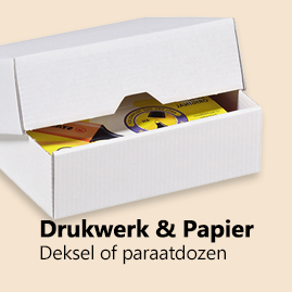 Dekseldozen of paraatdozen voor drukwerk en papier