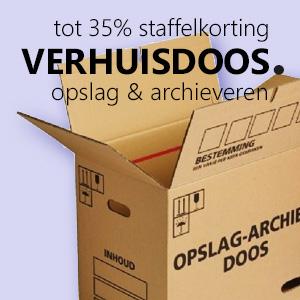 Verhuisdozen, opslag en archiveerdozen