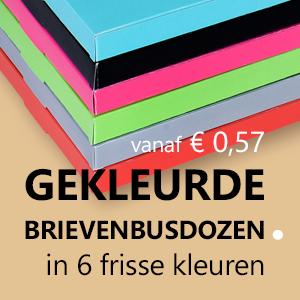 Gekleurde brievenbusdozen