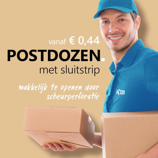 Postdozen met zelfklevende sluiting