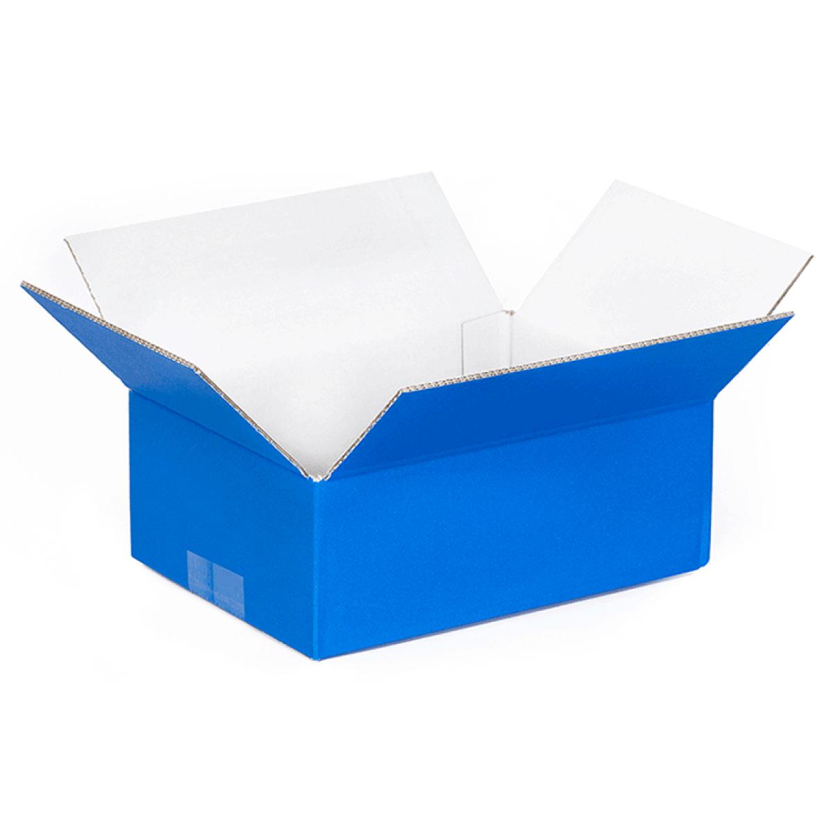 trendy doos blauw buitenkant