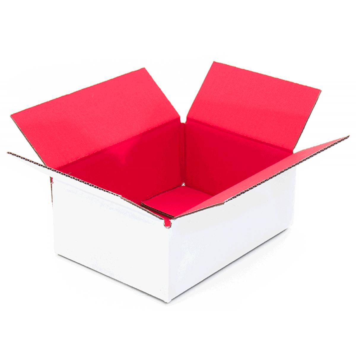 gekleurde doos rood binnenkant