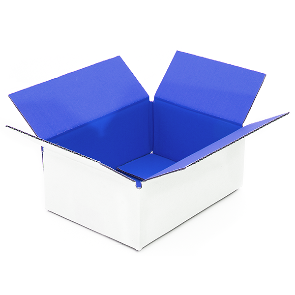 Blauwe doos binnenkant