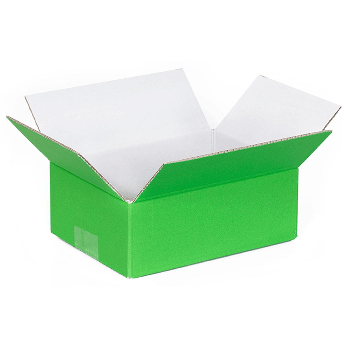 trendy doos groen buitenkant