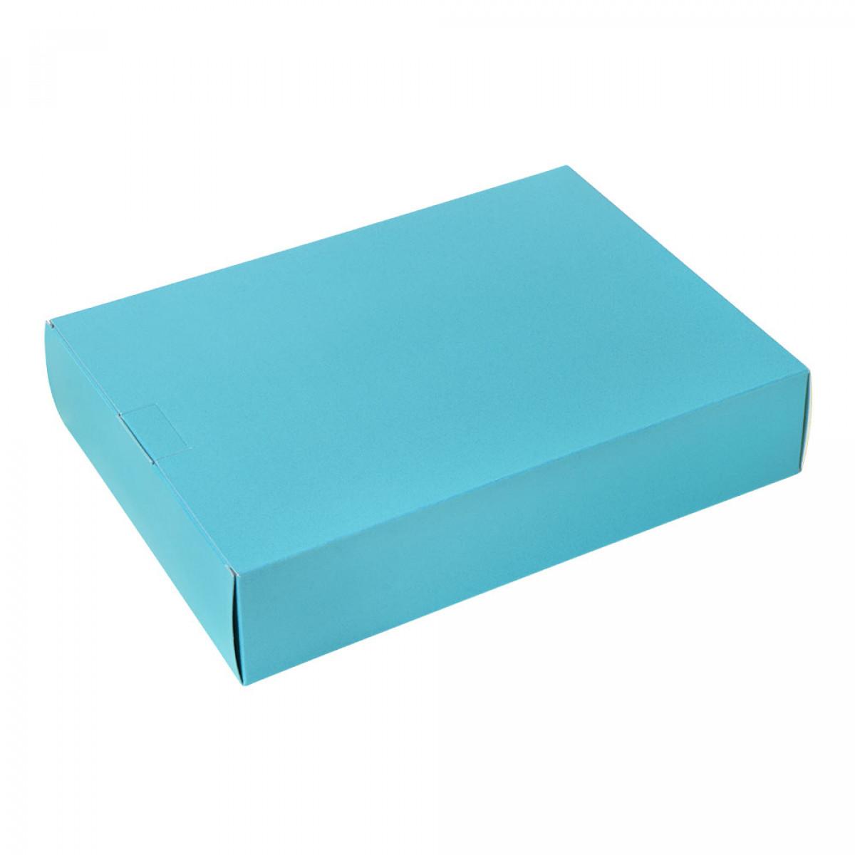 Packbox 420x305x90mm, Aquablauw