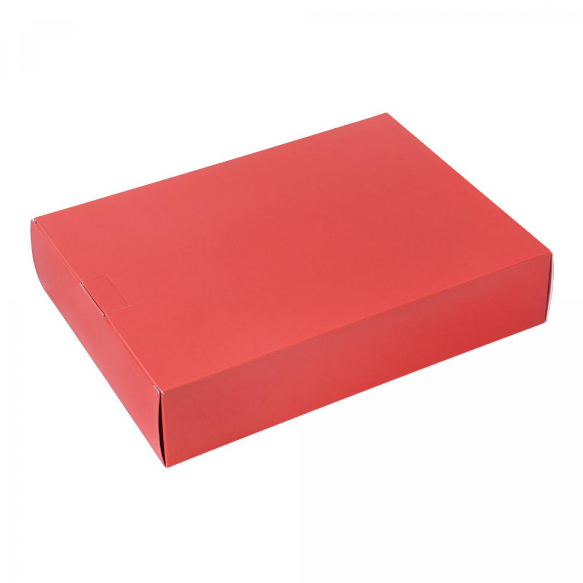 Packbox 420x305x90mm, Oranjerood