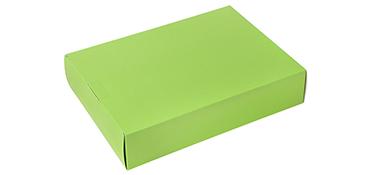 Gekleurde dozen kunnen ook goed worden gebruikt voor geschenkverpakkingen