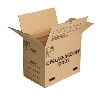 Handige archiefdozen in grote en kleinere hoeveelheden